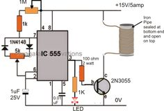 The post explains a small induction heater circuit which could be implemented as school projects and exhibitions