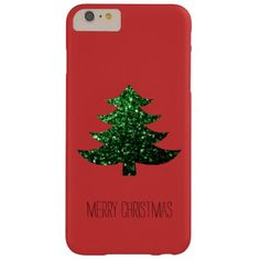 SOLD Christmas tree green sparkles Red iPhone 6 Plus case #PLdesign #ChristmasSparkles #SparklesGift #SparklesCase #iPhone6