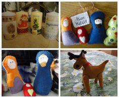 #natale #regalo #candela #homemade #pannolenci #presepe #renna