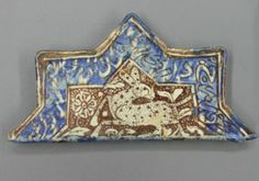 Fragment of a Kashan Tile (Spotted Hare)