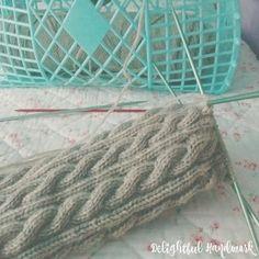Cable knit socks & jelly bag - Delightful Handwork