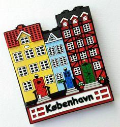 Design for Scandinavian Souvenir ApS.  Magnet with old houses in Nyhavn Copenhagen