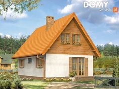 Motylek Dom letniskowy z użytkowym poddaszem. - Jesteśmy AUTOREM - DOMY w Stylu Home Fashion, Cabin, Building A House, Porch, House Styles, Cottage, Bonsai, Home Decor, Garden
