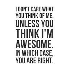 I'm awesome! :)