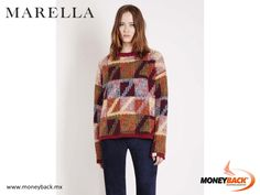 MONEYBACK MEXICO. This amazing winter clothing made of yarn, with round neck and mixed colored yarn can be combined perfectly with many other garments! Visit MARELLA Mexico, save your purchase receipt and come to Moneyback for your tax refund! #moneyback www.moneyback.mx