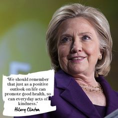 Best Hillary Clinton quotes: On the need for positivity. Read more at Redonline.co.uk