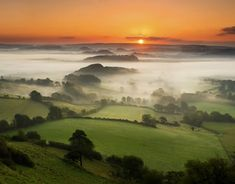 Rolling mists in beautiful Dorset.