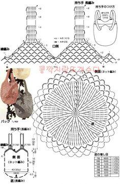 Rustic Market Bag pattern by Camilla N. Crochet Throw Pattern, Crochet Diagram, Crochet Chart, Filet Crochet, Crochet Patterns, Crochet Pouch, Crochet Diy, Love Crochet, Crochet Bags