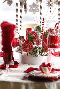 Mrs. Claus' Candy Table-PurpleChocolatHome