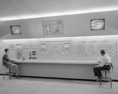 — Wind tunnel control room