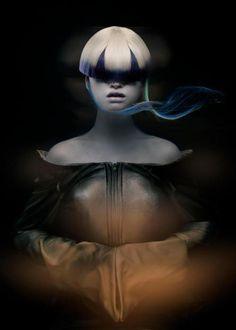 """DARK BEAUTY"""" concepto, coordinacion y peluqueria Ignazio Muñoz, fotografo Ivan Aguirre, maquillajeBernardo Vazquez Guadarrama Maquillista, diseño Culter, modelo Sade Hugo"""