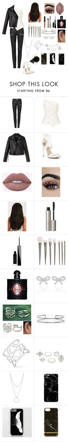 """""""Black & White ☯️"""" by mid-night-moon-light ❤ liked on Polyvore featuring Roland Mouret, BCBGMAXAZRIA, Ilia, Givenchy, Yves Saint Laurent, NOVICA, Boohoo, Vince Camuto, Charlotte Russe and Botkier"""
