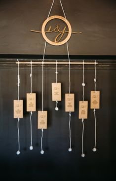 Laser Cut Wedding Table Numbers & Placing