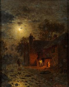 Louis Tribsees Douzette (1834-1924) - Barth, the Old Forge, 1869