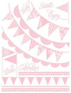 hambly screen prints 6'' x 8'' Antique Pink Rub-Ons