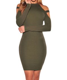 79c7fd18d5d6 Amazon.com  Shawhuwa Womens Sexy Ribbed Knit Bodycon Long Sleeves Party Club  Mini Dress
