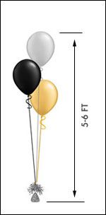 Simple Balloons from Red Balloon Company delivered $ 15.95 about $5 per balloon