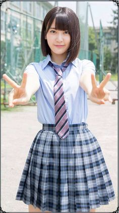 MIYAWAKI_sakura 宮脇咲良 JK 制服 Cute School Uniforms, School Uniform Girls, Girls Uniforms, School Girl Japan, Japan Girl, Sakura Miyawaki, Japanese School Uniform, Beautiful Japanese Girl, Idole