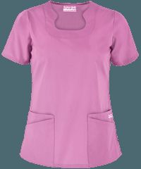 Delantales médicos en colores sólidos, uniformes médicos y de enfermería en Uniform Advantage Scrubs Outfit, Scrubs Uniform, Medical Uniforms, Medical Scrubs, Nursing Clothes, Scrub Tops, Costume, Work Wear, Clothes For Women