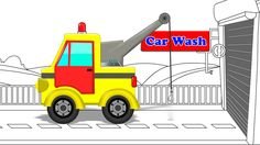 Tow Truck | Car Wash | Construction vehicle | Video for Children & Babies