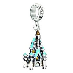 Add the magic of Disney to your Chamilia collection with this stunning Cinderella's Castle hanging charm bead from the Disney Princess collection. Crafted from precious sterling silver, this gorgeous Cinderella Castle bead features blue and gold detailing. Inspired by your own personal style, Chamilia jewellery is as unique as you are.