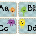 Word Wall letter blocks for a monster themed classroom.  Great for display on a bulletin board or other classroom display....