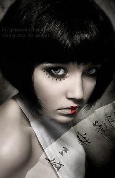 ** PERFECT FOR MY SHORT HAIR!** Hairstyle idea for Geisha Fashion Show