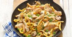 Quick chicken and spaetzle pan Raw Food Recipes, Asian Recipes, Chicken Recipes, Dinner Recipes, Healthy Recipes, Ethnic Recipes, Healthy Lunches, Evening Meals, The Best