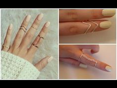 DIY easy rings ♡ - YouTube