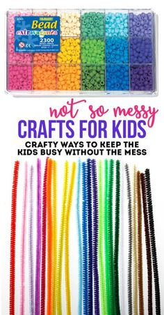 Not So Messy Crafts For Kids. Love these simple crafts and kits for keeping the kids busy this summer but without the mess.