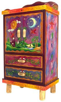 Sticks armoire ~ Des Moines, Iowa  based company ~ fabulous hand painted art furnishings - fabulous!!!