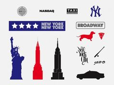 New york tourism vectors silhouette  Vector | Free Download