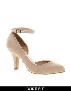 Image 1 of New Look Wide Fit Substantial 2 Ankle Strap Heeled Shoes