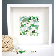 DIY Seaglass Wall Art Easy How to !
