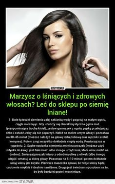 Stylowi.pl - Odkrywaj, kolekcjonuj, kupuj Healthy Beauty, Healthy Hair, Health And Beauty, Beauty Care, Diy Beauty, Beauty Hacks, Hair Tattoos, Natural Cosmetics, Hair Health