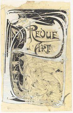 Projet pour la couverture Revue d'art (1899).