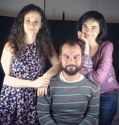 Eva Egido, Daniel Monreal y Olga Goded grabando el Teaser del espectáculo.