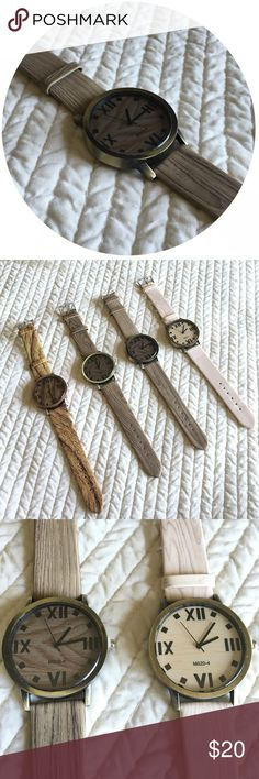 •Men's Faux Wood Watches• PLEASE DO NOT PURCHASE THIS LISTING! Comment with the color you would like and I will make you a new one! Only one available in each color. This is not real wood, just made to look like wood. Accessories Watches