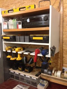Cordless Drill Storage · Storage ShelvesGarage StorageTool StorageStorage  IdeasWorkshop ...