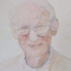 - Martin Sjardijn - Portrait of Nico Mobron 2010 #art #artfair #aquarelle #con #contemporary #Stroom #Pulchri