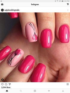 Cute And Highly Fashionable Nail Art Ideas- This post we have put together some nail art design ideas about the flower. You can refer to and choose to try and make your nails shiny. No matter the occasion, try one of the 50 cute nail designs below. Spring Nail Art, Spring Nails, Great Nails, Cute Nails, Hair And Nails, My Nails, Nails Factory, Nagel Blog, Nagellack Trends