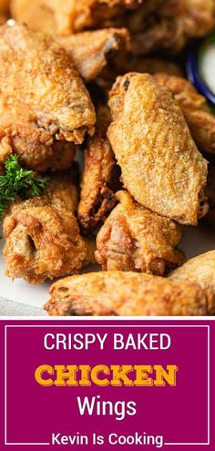 Crispy Baked Chicken Wings (Master Recipe) Crispy baked chicken wings are a tastier way to enjoy your favorite appetizer, without the greasy mess. Make this recipe to use with any wing sauce! Chicken Wing Sauces, Easy Chicken Wing Recipes, Crunchy Chicken Wings Recipe, Chicken Recipes With Sauce, Crispy Wings Recipe, Chicken Drummettes Recipes, Whole30 Chicken Wings, Best Baked Chicken Recipe, Whole Baked Chicken