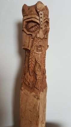 FOR SALE on esty - Viking wood carving. Made from Oak and stained