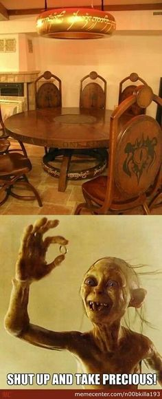 Lord of the Rings dining room