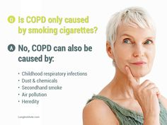 One of the biggest misconceptions surrounding COPD. #COPD Awareness Month