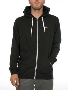 Core Basics II Zip Hoodie for men by Vans  60% Cotton 40% Polyester  Model is wearing a size medium