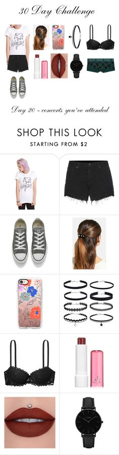 """""""Weezer"""" by cassieee-m ❤ liked on Polyvore featuring rag & bone, Converse, L. Erickson, Casetify, Victoria's Secret and CLUSE"""