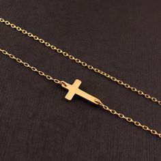 Side cross necklace Just ordered!