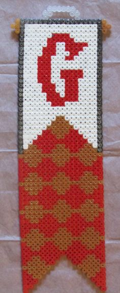 Harry Potter Gryffindor Banner Sign hama perler beads by Keely Jade