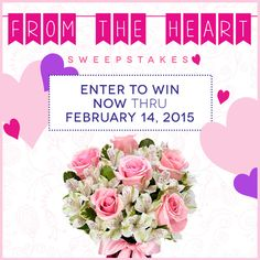 I just entered to win the Send Flowers From the Heart Sweepstakes, worth $750 in prizes, including a $500 Visa gift card, and more! Join me! #sfsweeps